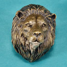 African Lion Bronze Drawer or Cabinet Pull