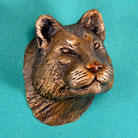 Mountain Lion Bronze Drawer or Cabinet Pull